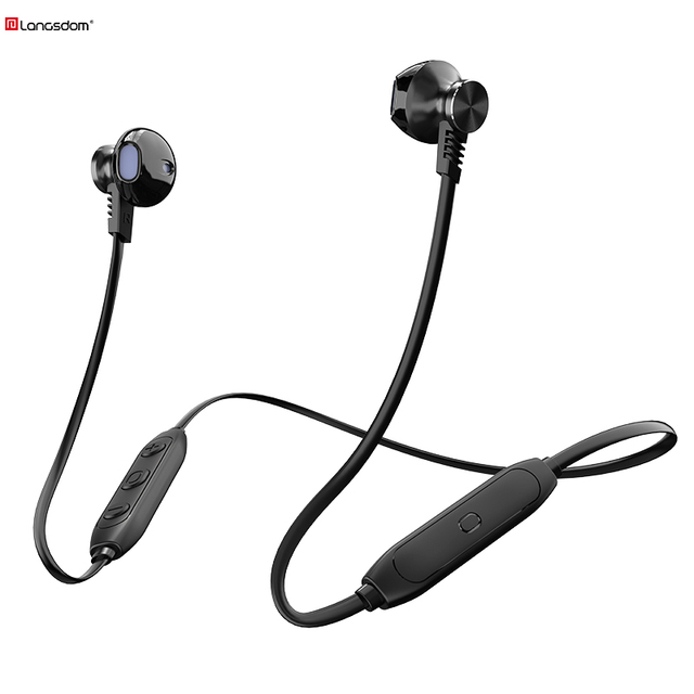 Langsdom L5Pro Bluetooth Earphone with HD Mic Metal Stereo Wireless Earphones Headphones auriculares Bluetooth Headset for phone