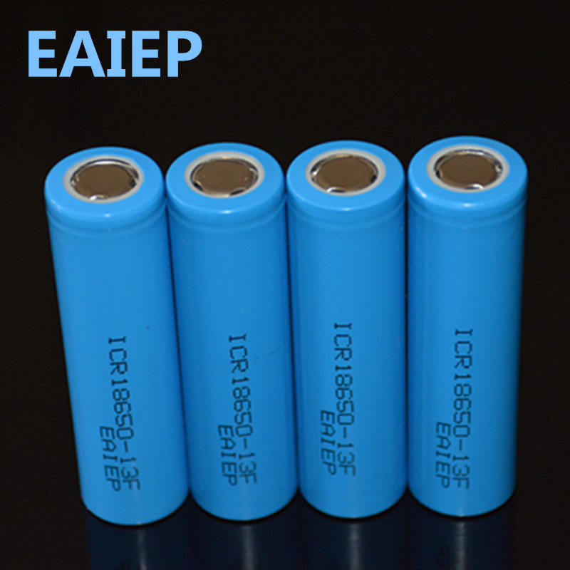 EAIEP <font><b>4</b></font> piece / lot <font><b>18650</b></font> 3.7V 1300mAh rechargeable liion battery for Led flashlight li-ion rechargeable battery image