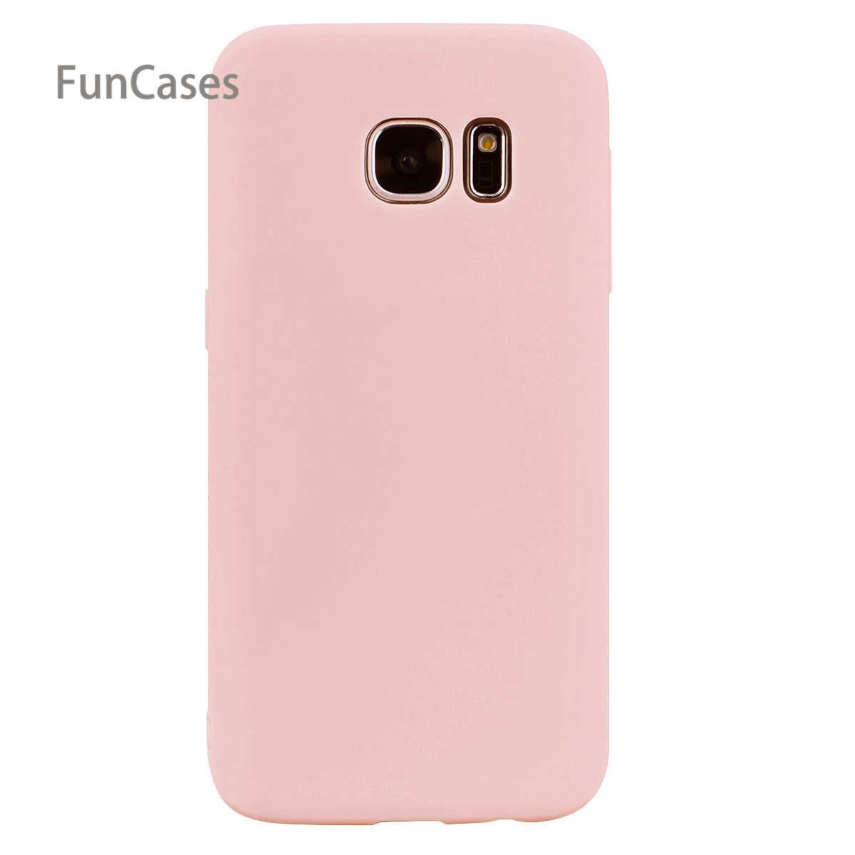 Slim Kasus Capinha sFor Samsung S7 Tepi Lembut TPU Kembali Penutup portabel Lucu Silikon Kasus sFor Samsung Galaxy S7 Tepi Telepon Pouch