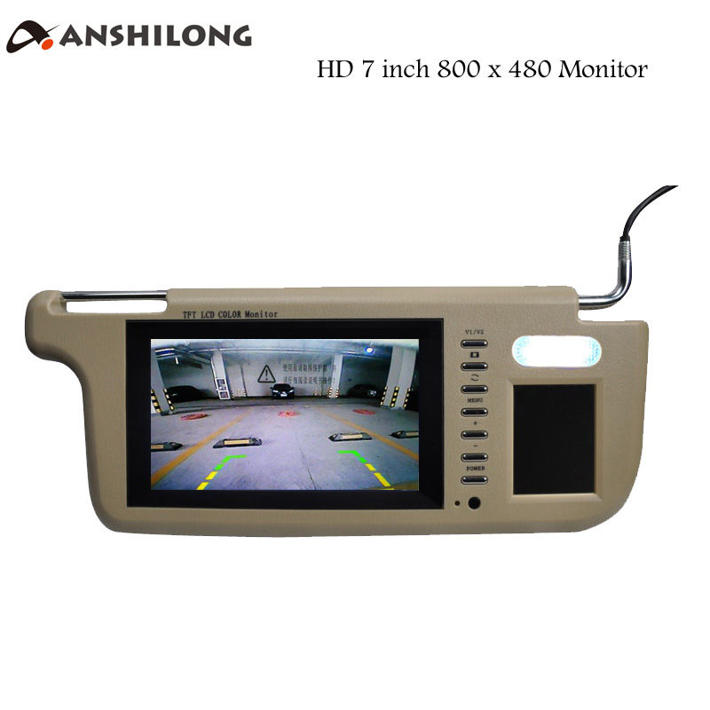 ANSHILONG Left or Right 7 Car Sun Visor Monitor 2 Channel Video 800 x 480 Resolution for DVD Player and Car Rearview Camera