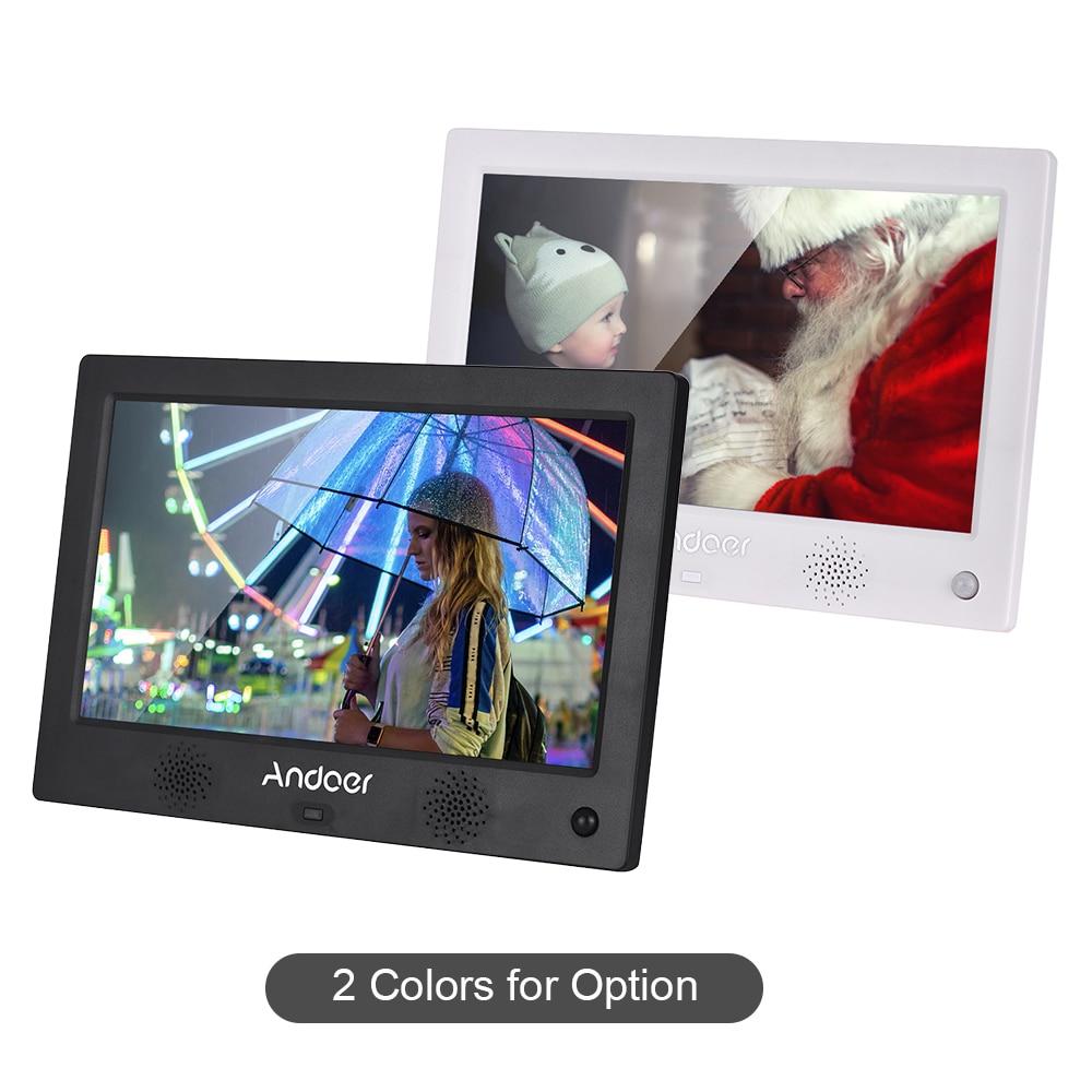 Andoer 10 1 Inch LED Screen Digital Photo Frame Digital Photo Album Resolution 1024 600 HD