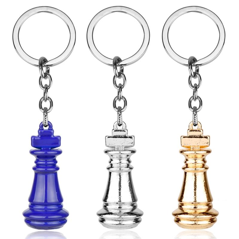 Wholesale Anime Cartoon No Game No Life Chess Keychain Metal Pendant Keyring For Men Fashion Car Key chain