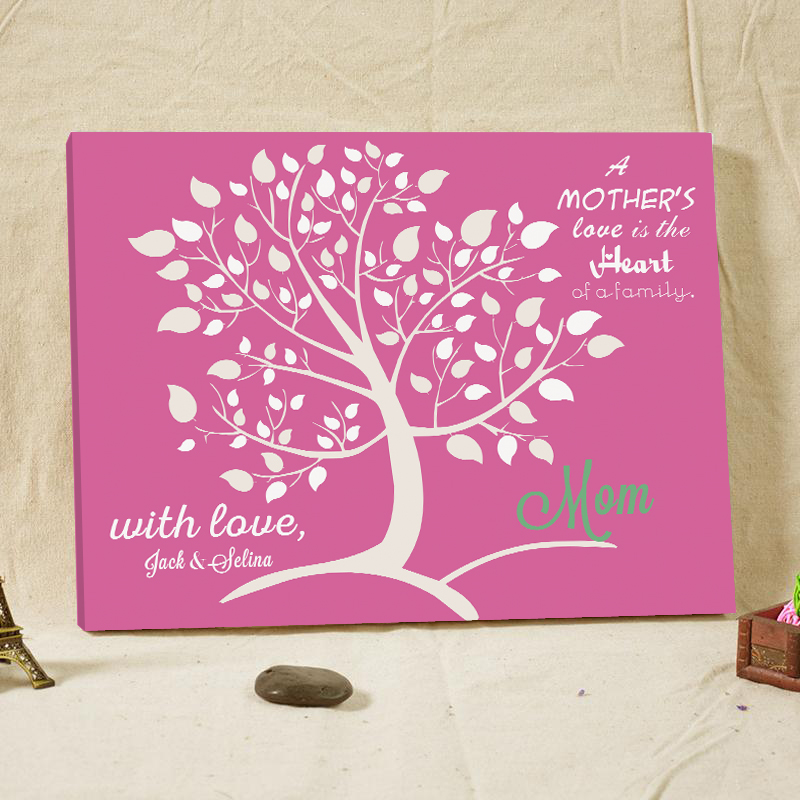 Mothers Love Wedding Tree Party Decoration Unique Canvas Guest Book Wood Frame Bridal Shower Favors and Gifts for Guest Sign In