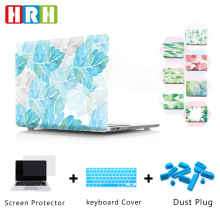 HRH Beautiful Stylish Leaves PC Laptop Body Shell Protective Hard Plastic Case Sleeve for Macbook Air A1932 2018 Released
