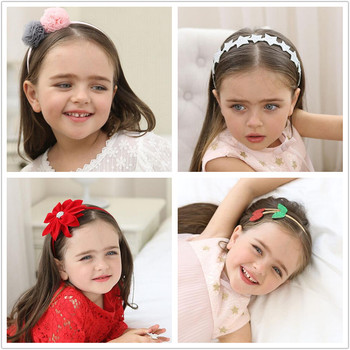 Assorted handmade girls hair Accessories Cherry Head hoop Ice Cream diadema Pompon Headband kids star flower child Hairband