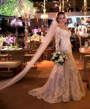 سهرة Superbweddingdress الزفاف الدانتيل