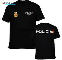 MenS T-Shirt 2019 Newest Man Jersey Crew Neck POLICIA CNP Spain Police Special Force Tees