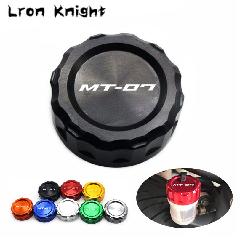 For Yamaha MT07 MT-07 MT 07 2014 2015 2016 2017 Motorcycle Accessories CNC Aluminum Rear Brake Reservoir Cover Caps rsd motorcycle 5 hole beveled derby cover aluminum for harley touring flh t 2016 2017 for flhtcul and flhtkl 2015 2016 2017