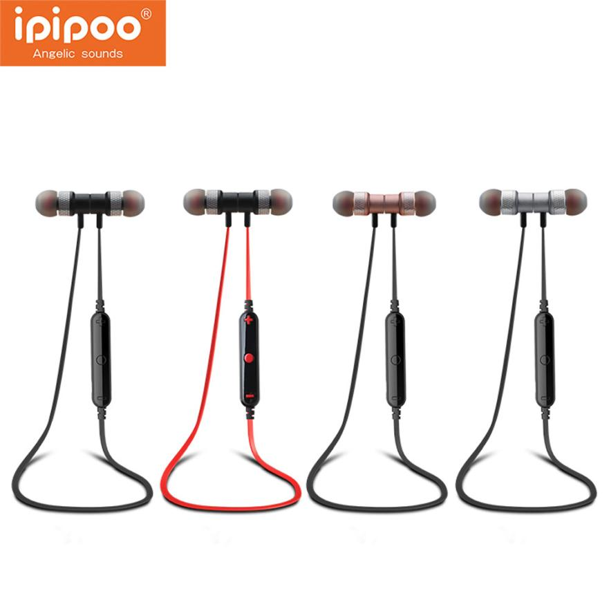 Ipipoo Wireless Bluetooth Headset Sport Stereo Earphone For IPhone audifonos auriculares ecouteur audifonos fone de ouvido hestia ex 01 bluetooth earphone car headphones with microphone auriculares wireless stereo headset audifonos for iphone 6 7 sony