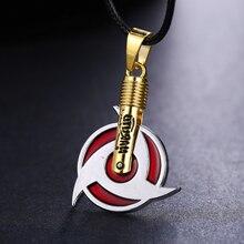 MOSU Hot Anime Naruto Necklace Uchiha Itachi Mangekyou Sharingan Pendant Cosplay Toy Jewelry can Drop-shipping