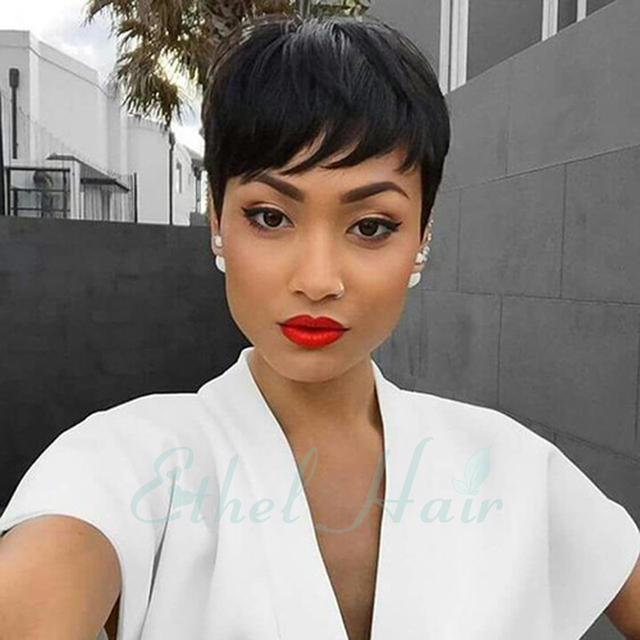 Are short human hair wigs for black women