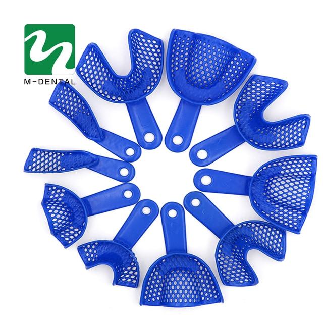 10pcs/Set Plastic-Steel Dental Impression Trays Oral Hygiene Dental Impression Trays
