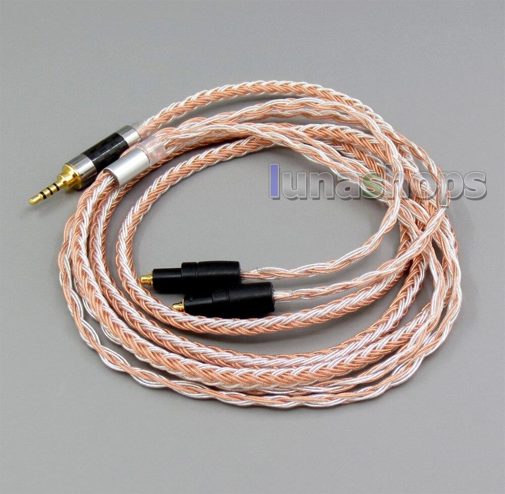 2.5mm 4 pôles TRRS Équilibré 16 Core OCC Argent Mixte Casque Câble Pour Shure SRH1540 SRH1840 SRH1440 LN005835