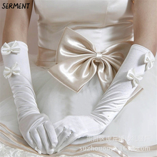 Wholesale Supply Wedding Gloves Have Long Lace Bridal Factory Direct White