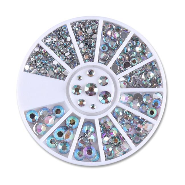 Смешанный цвет камень-хамелион Стразы для ногтей маленькие Необычные бусины Маникюр 3D дизайн ногтей украшения в колесиках аксессуары - Цвет: Pattern 15