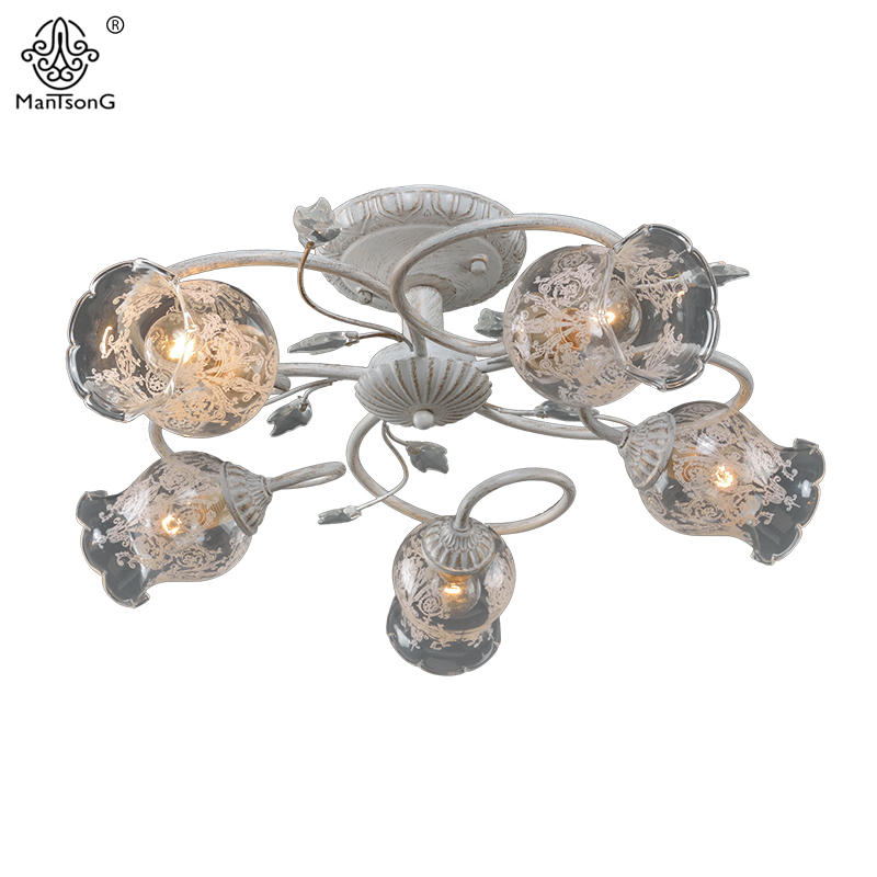 Schlafzimmer Vintage Blume Deckenleuchten Fr Wohnzimmer Klassische Lampe Hause Beleuchtung Weisse Glas Leuchte
