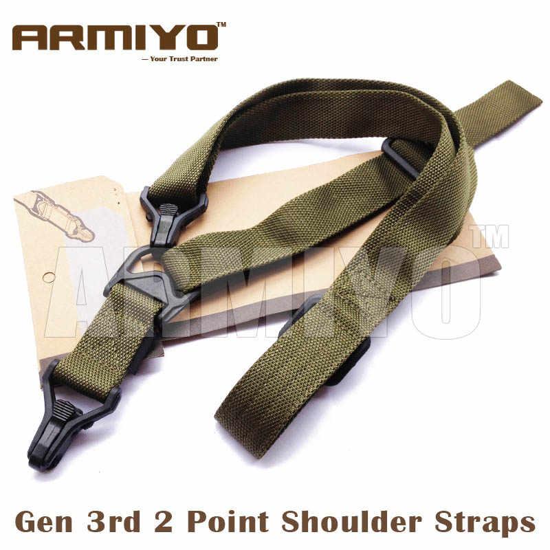 Тактический armiyo Миссия S3 2 точки Регулируемый Airsoft плечевой ремень Пистолет Ремень для винтовки нейлоновый ремень Принадлежности для охоты