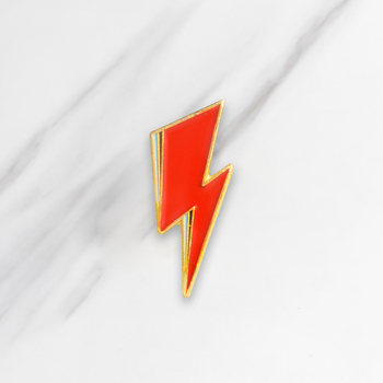 Red Lightning Soft Enamel Brooches GLAM ROCK Aladdin Sane Pins for clothes Shirt Bag Hat Badge Cartoon Jewelry Gift for Friends image