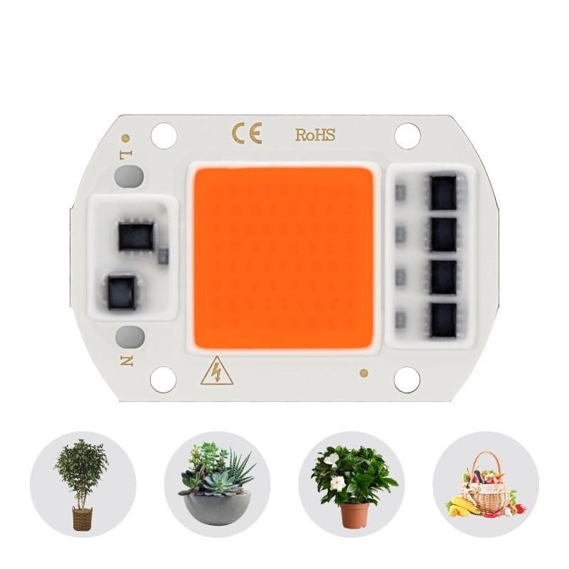 Led Cob Grow Light Chip Full Spectrum AC 220V 10W 20W 30W 50W  380nm-780nm Phyto Lamp For Indoor Plant Seeding Flower Grow