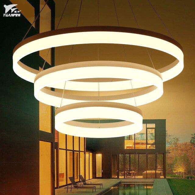klassieke stijl circulaire ring hanglamp acryl hanglampen