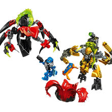 Hero Factory 6.0 Series Tunneler Beast vs Surge DIY Building Blocks Bionicle Robot Model Kits Compatible with Brick Toys(China)