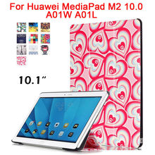 For Huawei MediaPad M2 10.0 Tablet Slim PU Leather Case Cover M2-A01W M2-A01L A01W A01L 10.1 Inch Shockproof Smart Fundas Stand