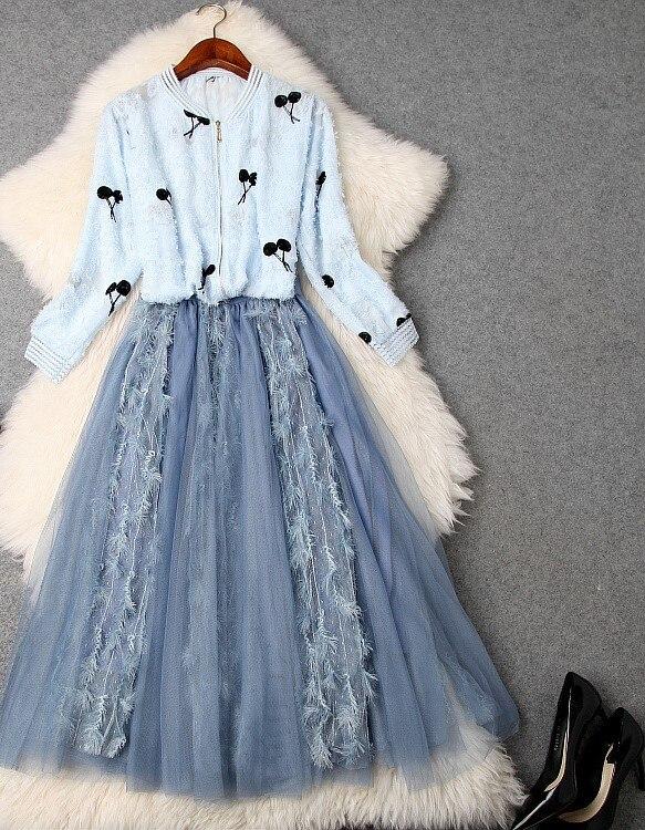 Piste Design Femmes Vêtements 2019 Mode Marque Luxe Européenne Style Partie De Ws03459 Ensembles Célèbre 5zFAg6