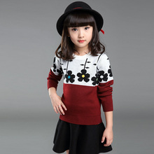 Girl Floral Pattern T Shirt Baby Girls Floral T-Shirt Toddler Long Sleeve Tops Blouse Cotton Kids T Shirt Girls Knitting Clothes