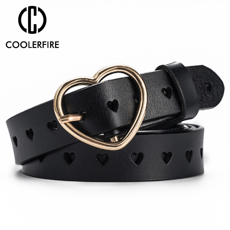 New Buckles Belt Female Deduction Side Gold Buckle Jeans Wild Belts For Women Fashion Students Simple Casual Trousers Belt LB012