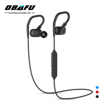 Obafu IPX4 Sweatproof Headphones Bluetooth 4 1 Wireless Sports Headset Aptx Stereo Earphones With MIC For