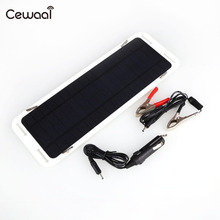 Cewaal Portable 18V 5W Solar Panel Car Boat Automobile Solar Powered Charging Panel Battery Backup Charger