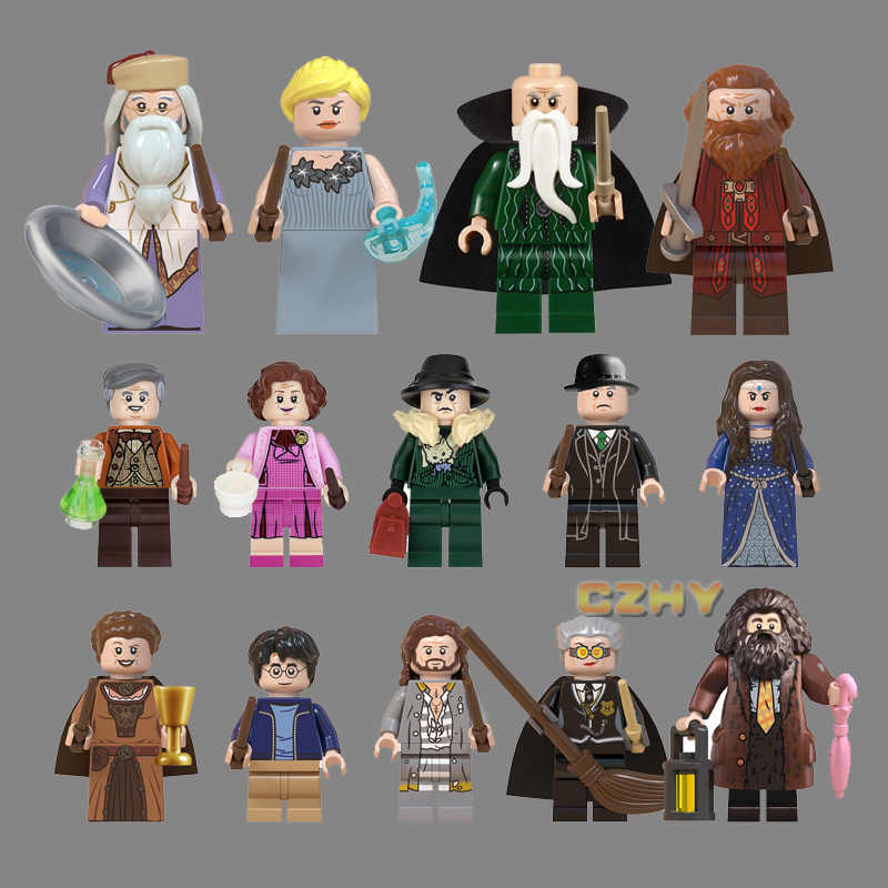 Harri Series Potters Professor Building Blocks Snape Hooch Hagrid Dobby Moody Quirrell Filch Voldemort Toys for Children WM6059