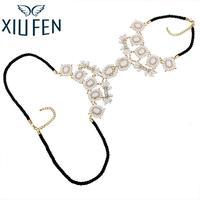 XIUFEN XY Fancy Multi Layer Flower Chains Allloy Resin Elegant Flower Women Back Sexy Body Chains