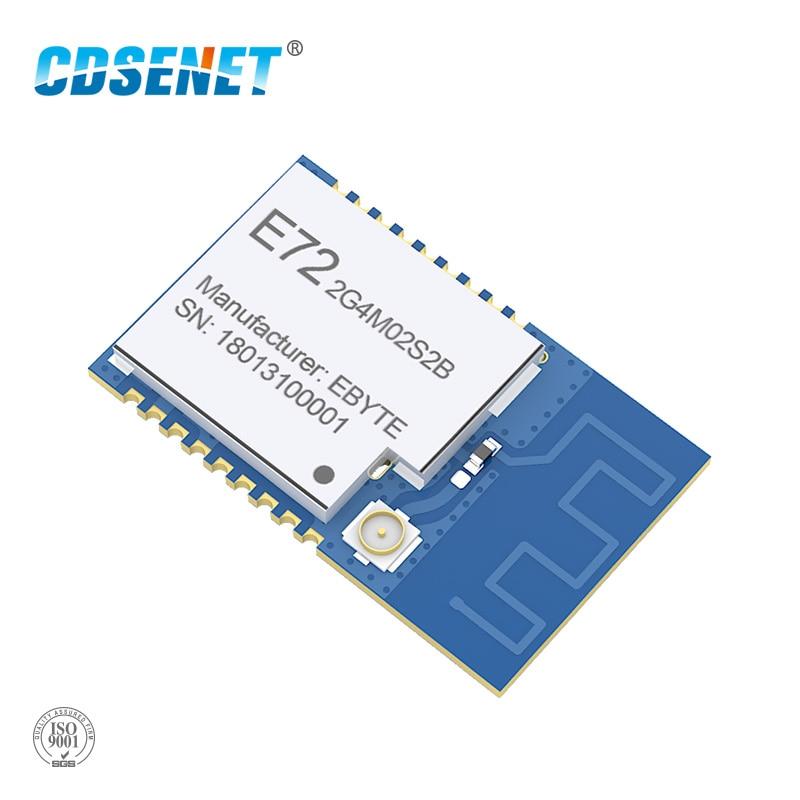 CC2640 2,4 ghz módulo Bluetooth inalámbrico módulo rf CDSENET E72-2G4M02S2B IO Puerto baja potencia 2dBm Bluetooth 4,2 2,4 GHz receptor