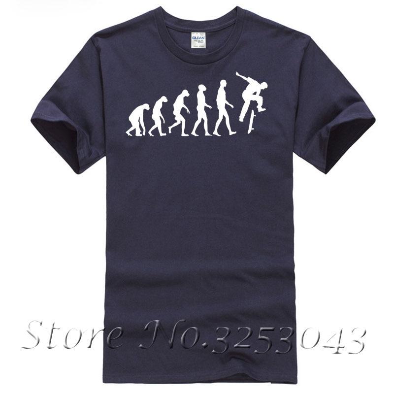 T-Shirt The Evolution of Skate T-Shirt For Men/Boy Short Sleeve Cool Tees