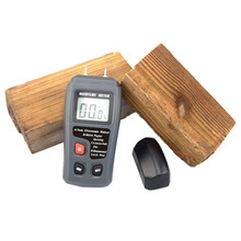 Portable Two Pins Digital Wood Moisture Meter 0-99.9% Wood Humidity Tester Timber Damp Detector with Large LCD Display стоимость