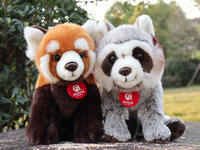 22cm Cute Lifelike Red Panda Raccoon Stuffed Animal Toys Real Life Lesser panda Plush Toy Soft Toys Gifts For Children