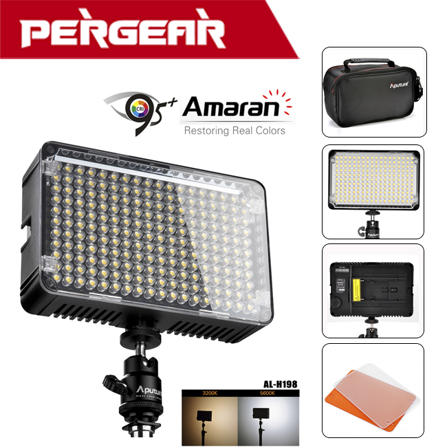 ФОТО Original Aputure Amaran AL-H198 Portable Mini  LED Video Light Lamp High CRI 95+ 5500K Continuous LightP0016511 Free Shipping