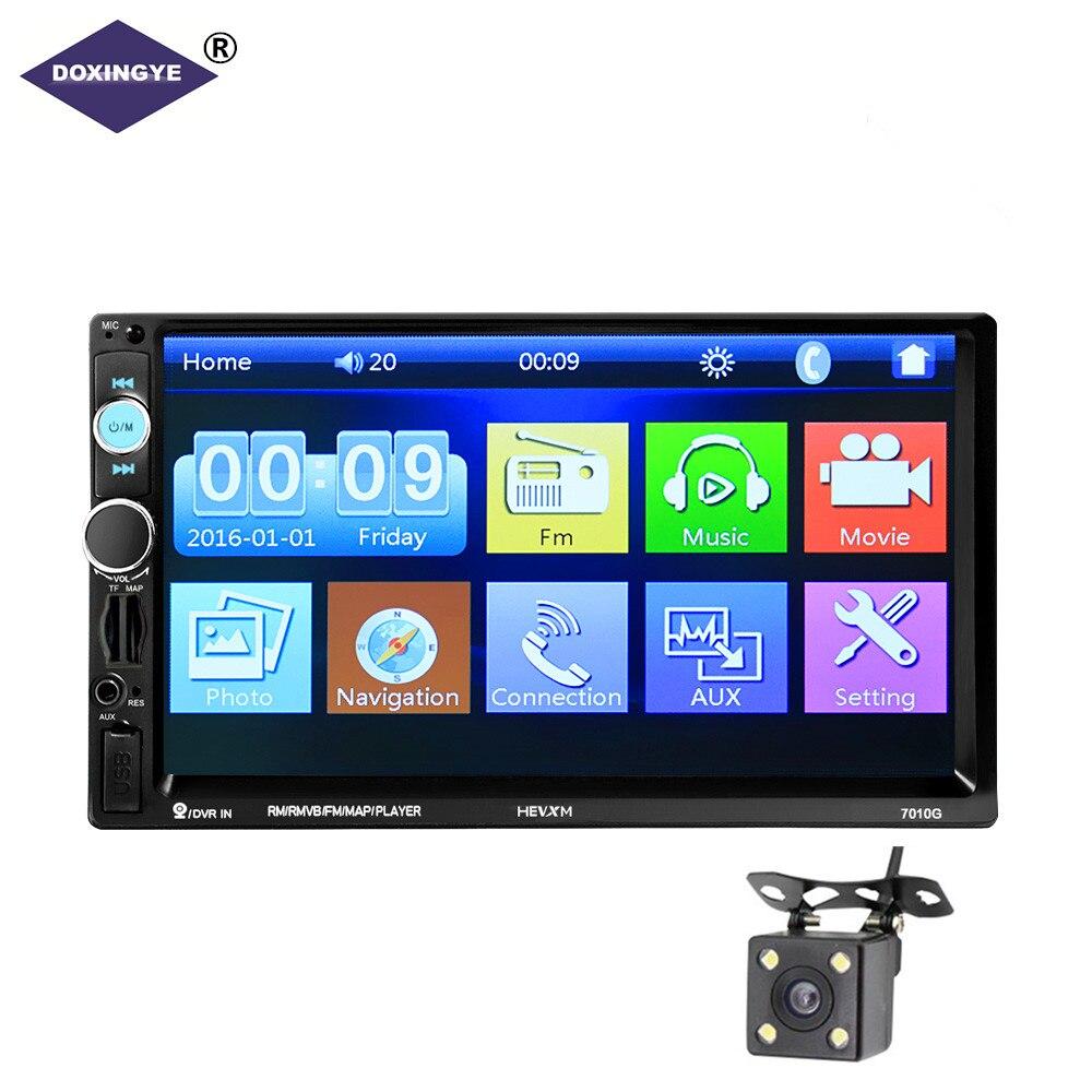 DOXINGYE 7 Universal Polegada 2 MP5 DIN Stereo Car Audio Player Navegação GPS Vídeo Do Carro Jogador FM TF SD MMC USB Rádio FM Hands-free