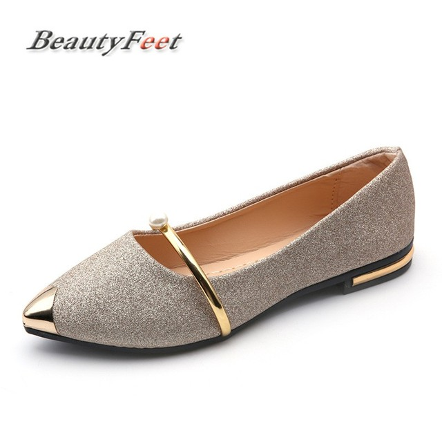BeautyFeet 2017 Pointed Toe Shallow Women Shoes Woman Comfortable Slip on  Casual Shoes Leisure All Match