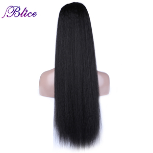 Blice Synthetic Long Yaki Straight Ponytail 30inch Fashion Super Ponytail Multivariant Style For Girls All Colors