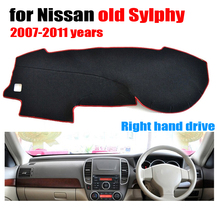 Car dashboard cover mat for Nissan Old SYLPHY 2007 to 2011 Right hand drive dashmat pad dash covers auto dashboard accessories