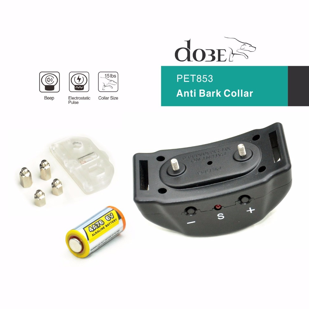 Newest Automatic Anti Bark Collar Sound & Shock & Electric No Remote Needed Bark Control Dog Training Collar No Bark Collarcollar bonescollar colorscontrol shop -