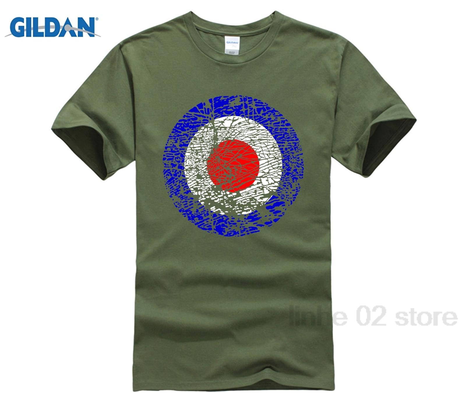 GILDAN Vintage Distressed Mod Target Broken Glass Pop Art T-Shirt sunglasses women T-shirt Mothers Day Ms. T-shirt