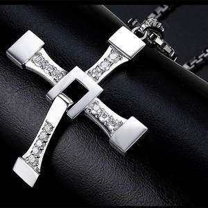 Cross-Necklace Stainless-Steel Furious Mimeng for Dominic Toretto And Fast 8