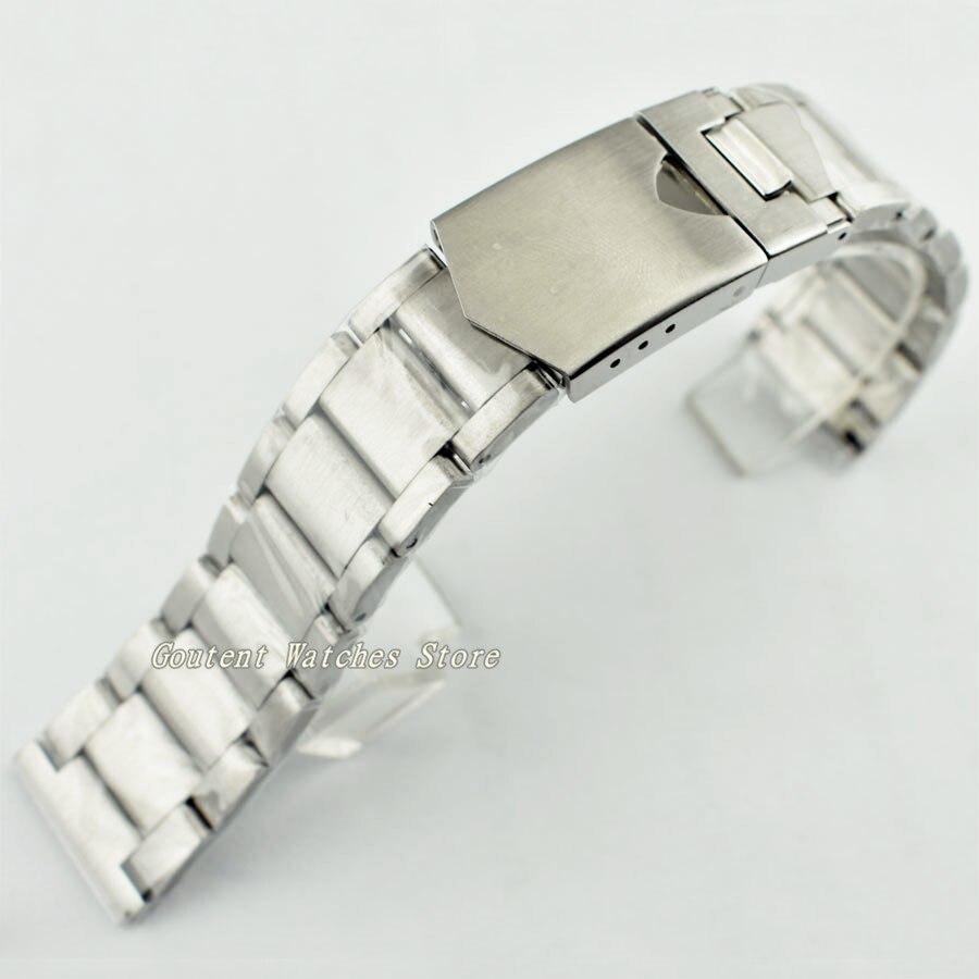 Bracelet en acier inoxydable Corgeut 22mm 316L Bracelet de montre solide montres bandes montre accessoire