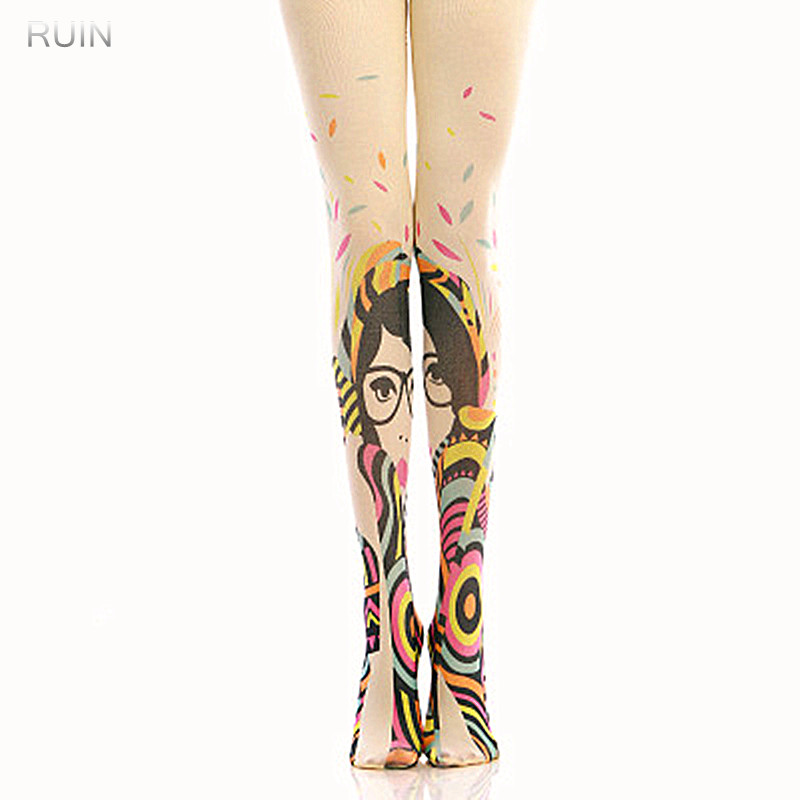 RUIN 2017 WINTER 11 WOMENS TIGHTS Classic geometric pattern pantyhose GIRL TIGHTS