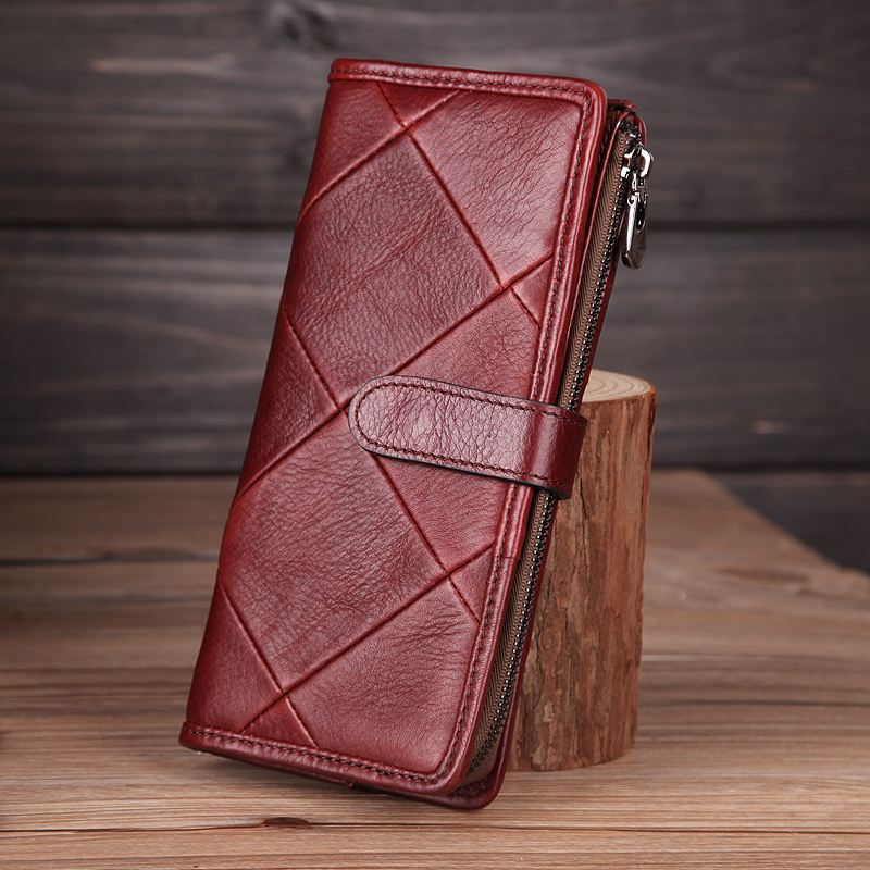 Cobbler Legend 2019 Genuine Leather Women Wallet Diamond Handmade Burse Female Coin Purse Hasp Clutch Lady Money Bag Card Holder