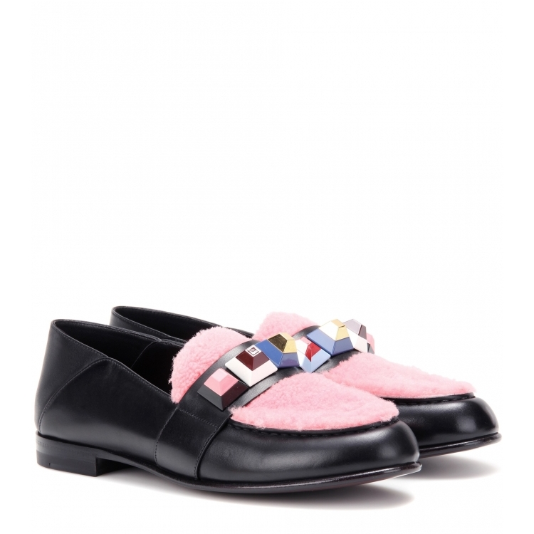 Fashion Design Multicoloured Studded Rivets Flats Loafers Black Leather Fur Espadrilles Celebrity  Casual flat Shoes Woman full rivets studded espadrilles men black casual flat shoes loafers wedding dress shoes mocassin homme flats sapatos masculino