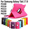 360 Degree Rotating PU Leather Holder Case Stand Cover For Samsung Galaxy Tab 2 7 0